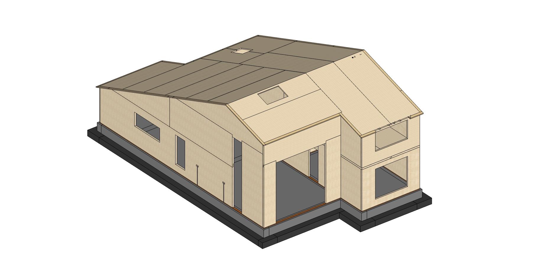 3d render 3, case de lemn, casabuhnici