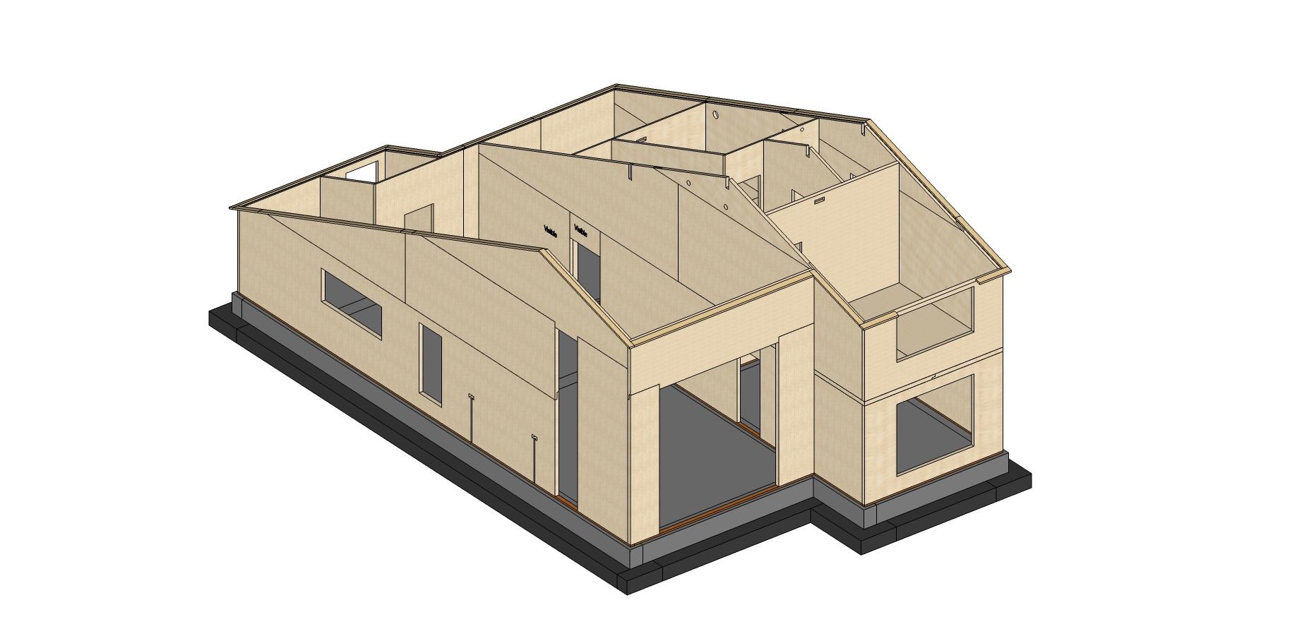 3d render 2, case de lemn, casabuhnici